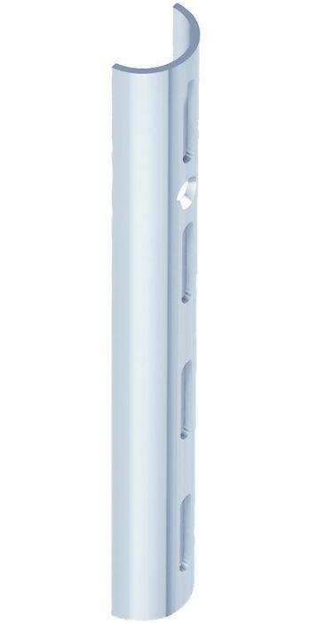 Puolipyöreä Seinäkisko Harmaa Alumiini 200 cm