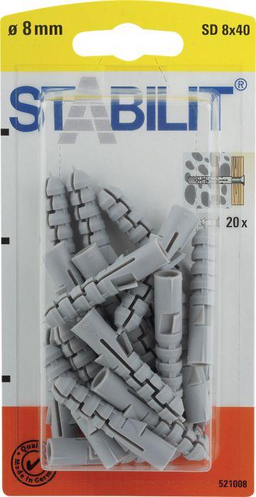 Välitulppa Stabilit 8 x 40 mm 20 kpl/pkt