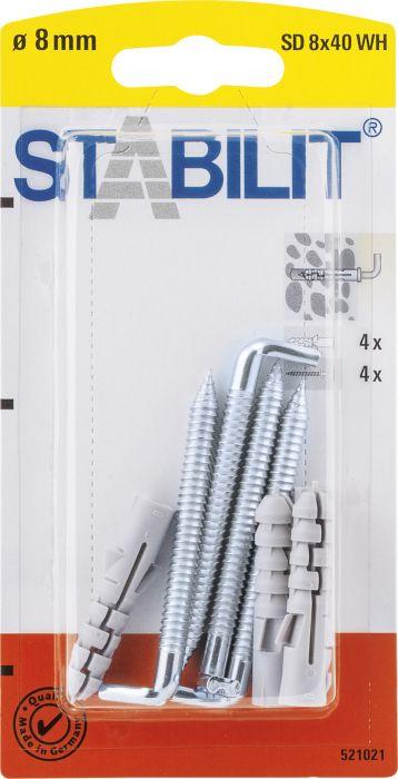 Koukkutulppa Stabilit 8 x 40 mm 4 kpl/pkt