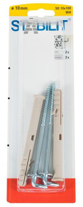 Koukkutulppa Form 115 Stabililit SD 10x100 WH K