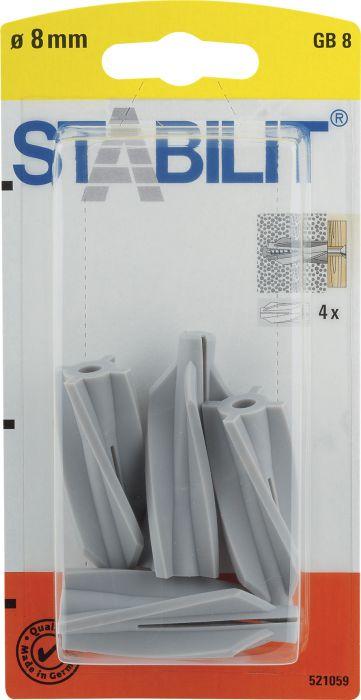 Siporextulppa Stabilit GB8 8 x 50 mm 4 kpl/pkt