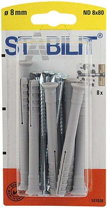 Naulatulppa Stabilit ND 8 x 80 mm 8 kpl/pkt