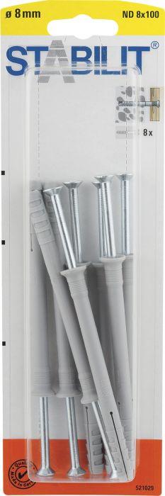 Naulatulppa Stabilit ND 8 x 100 mm 8 kpl/pkt