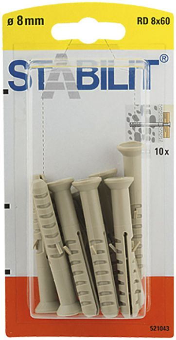 Välitulppa Stabilit RD 8 x 60 mm 10 kpl/pkt