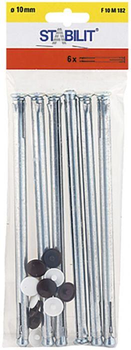 Kaulustulppa Stabilit Metalli 10 x 182 mm 6 kpl/pkt