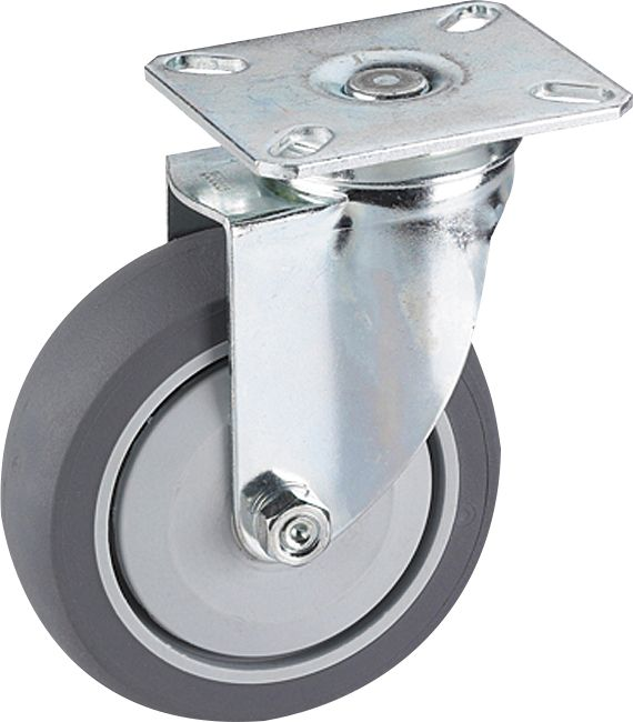 Kalustepyörä Stabilit 75 x 25 mm, levy 60 x 60 mm