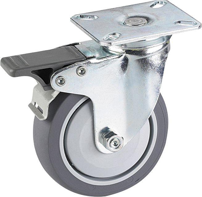 Kalustepyörä Stabilit 50 x 19 mm, levy 60 x 60 mm