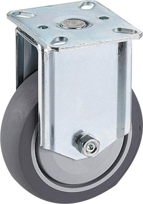 Kalustepyörä Stabilit 50 x 19 mm, levy 55 x 55 mm