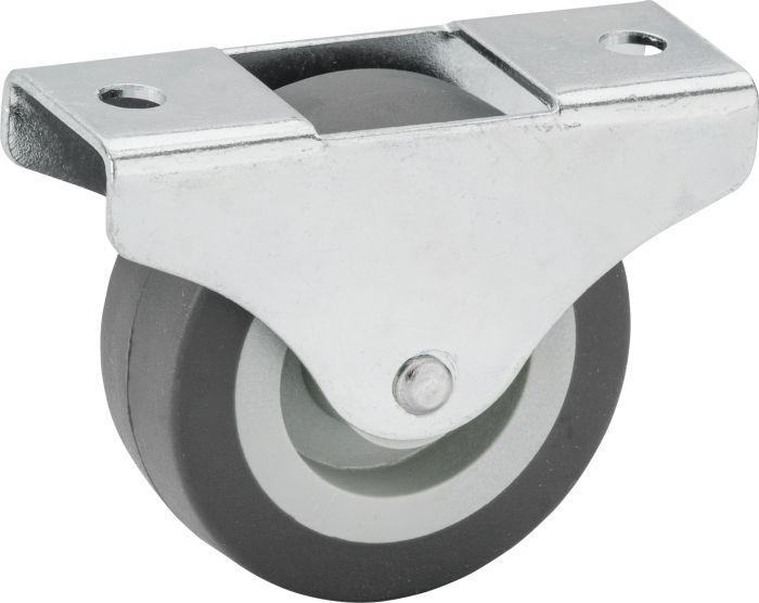 Kalustepyörä Stabilit 50 mm, levy 68 x 26 mm