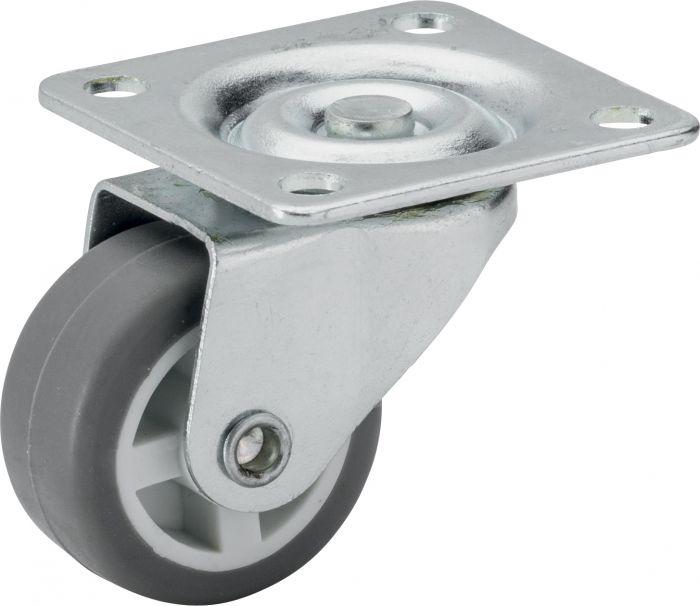Parkettipyörä Stabilit 30 x 14 mm, levy 40 x 40 mm