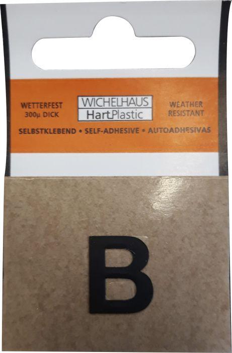 Kirjain Wichelhaus HartPlastic Musta 15 mm B