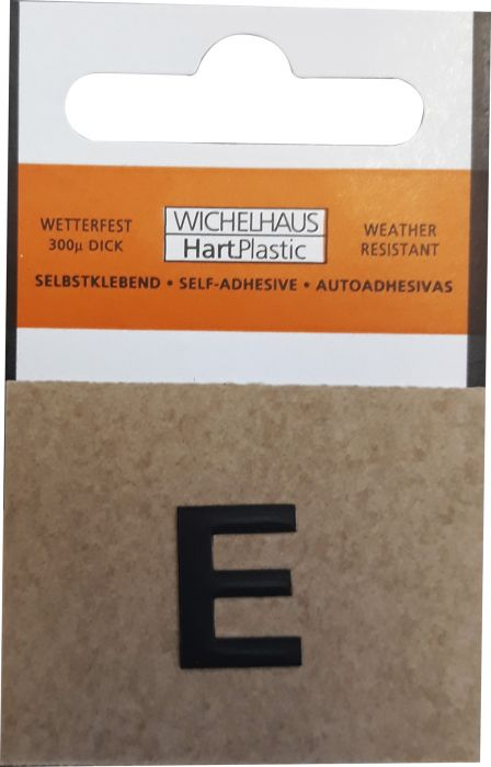 Kirjain Wichelhaus HartPlastic Musta 15 mm E