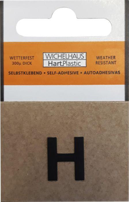 Kirjain Wichelhaus HartPlastic Musta 15 mm H
