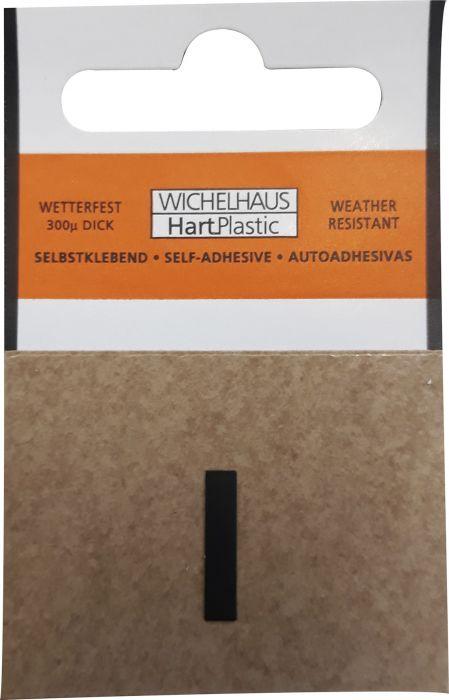 Kirjain Wichelhaus HartPlastic Musta 15 mm I