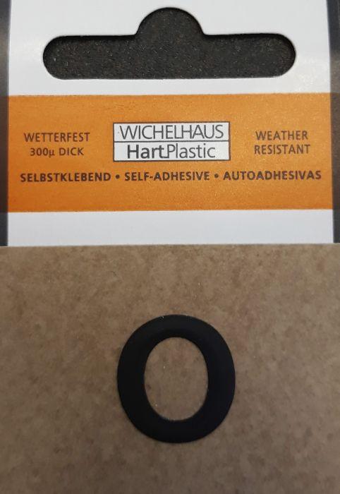 Kirjain Wichelhaus HartPlastic Musta 15 mm O