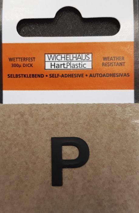 Kirjain Wichelhaus HartPlastic Musta 15 mm P