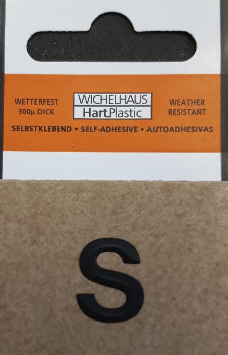 Kirjain Wichelhaus HartPlastic Musta 15 mm S