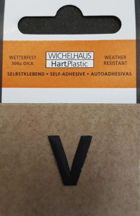 Kirjain Wichelhaus HartPlastic Musta 15 mm V