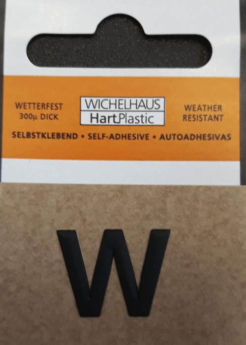 Kirjain Wichelhaus HartPlastic Musta 15 mm W