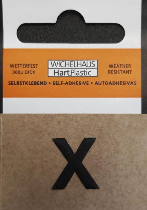 Kirjain Wichelhaus HartPlastic Musta 15 mm X