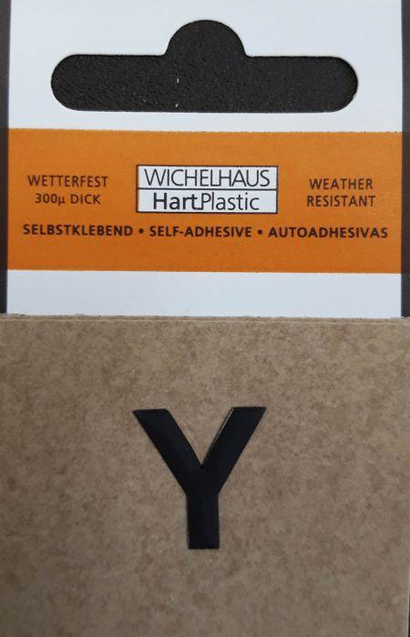 Kirjain Wichelhaus HartPlastic Musta 15 mm Y