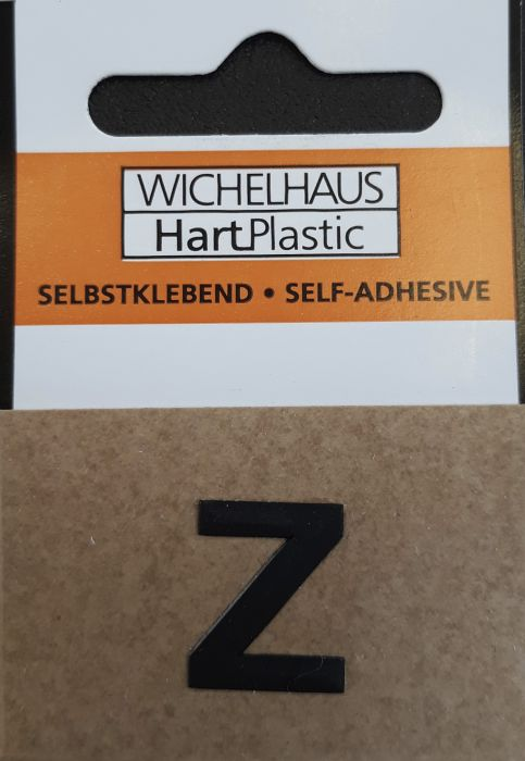Kirjain Wichelhaus HartPlastic Musta 15 mm Z