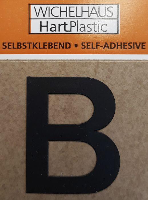 Kirjain Wichelhaus HartPlastic Musta 30 mm B