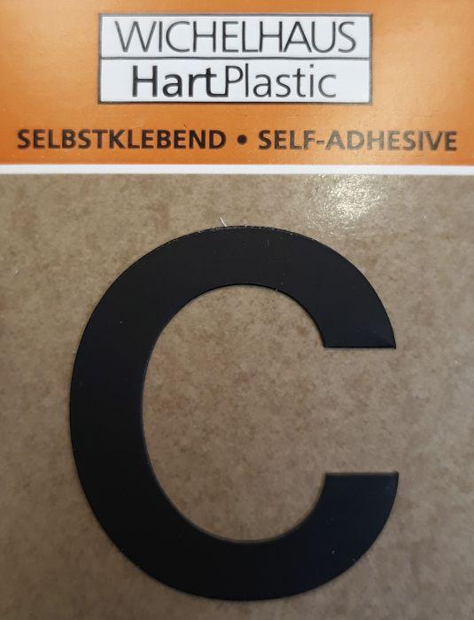 Kirjain Wichelhaus HartPlastic Musta 30 mm C