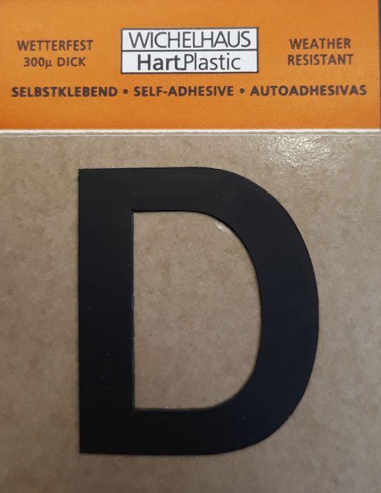 Kirjain Wichelhaus HartPlastic Musta 30 mm D