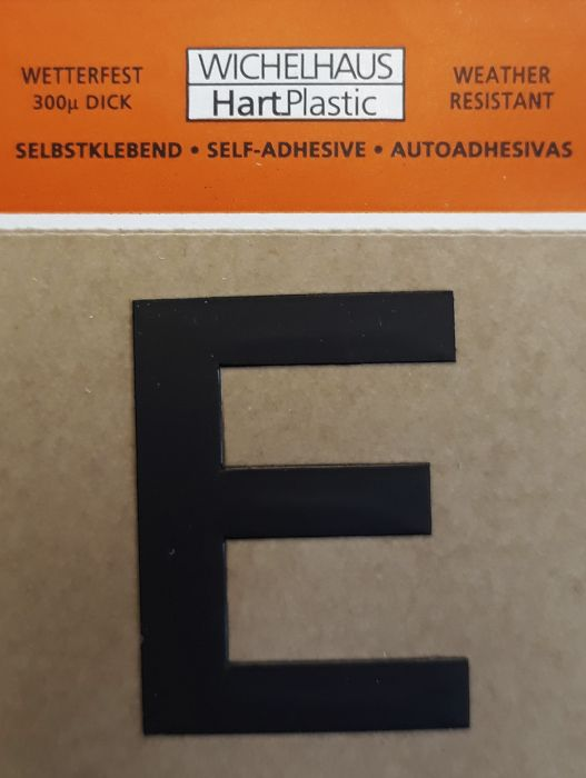 Kirjain Wichelhaus HartPlastic Musta 30 mm E