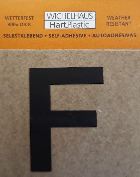 Kirjain Wichelhaus HartPlastic Musta 30 mm F