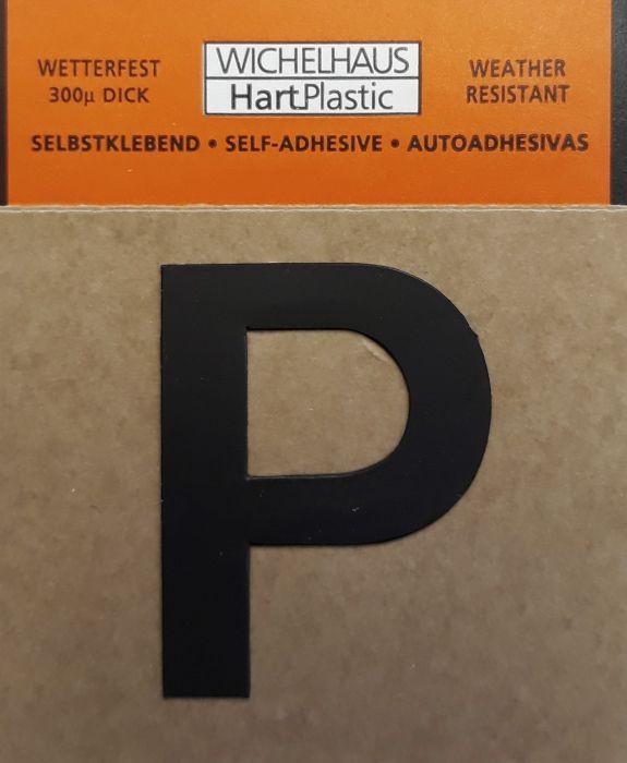 Kirjain Wichelhaus HartPlastic Musta 30 mm P