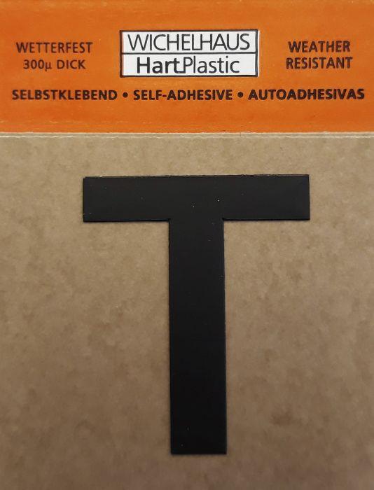 Kirjain Wichelhaus HartPlastic Musta 30 mm T