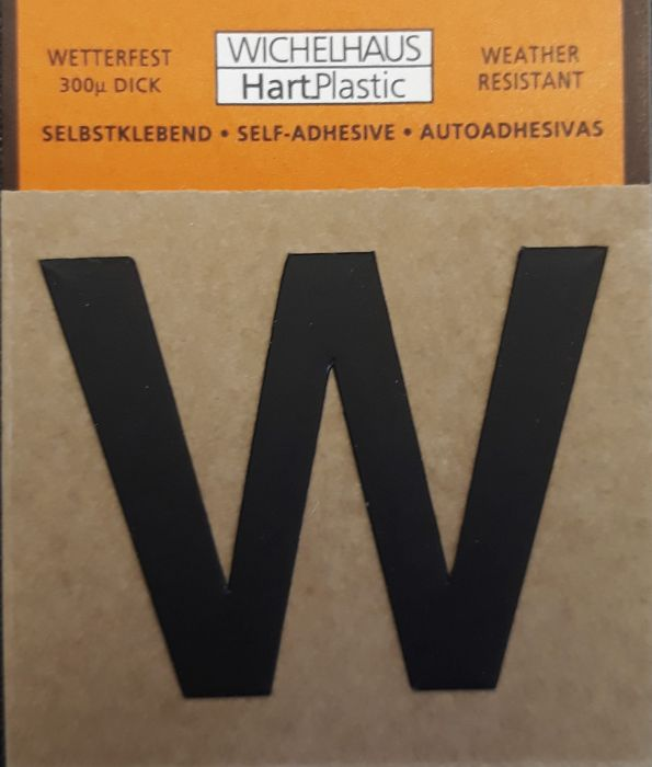 Kirjain Wichelhaus HartPlastic Musta 30 mm W