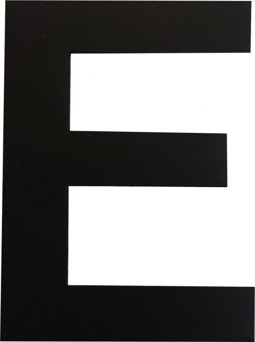 Kirjain Wichelhaus HartPlastic Musta 50 mm E
