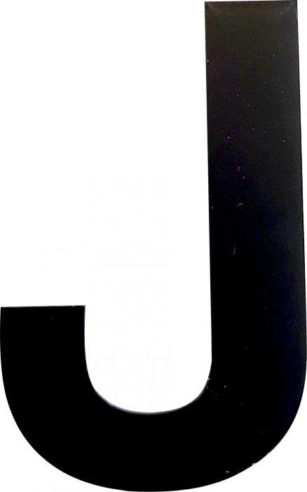 Kirjain Wichelhaus HartPlastic Musta 50 mm J