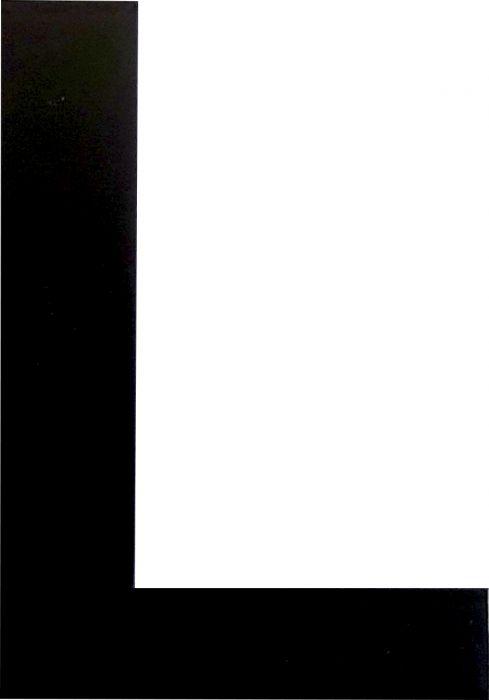 Kirjain Wichelhaus HartPlastic Musta 50 mm L