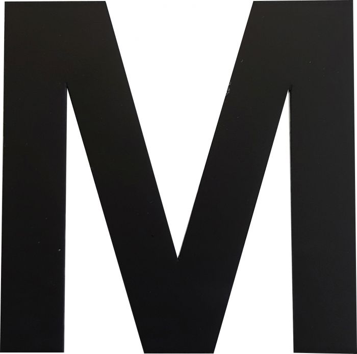 Kirjain Wichelhaus HartPlastic Musta 50 mm M
