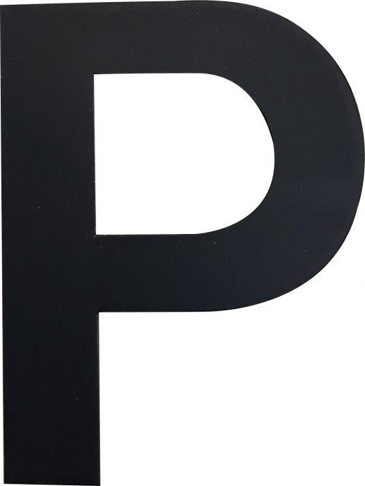 Kirjain Wichelhaus HartPlastic Musta 50 mm P