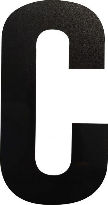 Kirjain Wichelhaus HartPlastic Musta 100 mm C