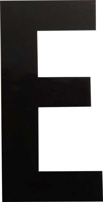 Kirjain Wichelhaus HartPlastic Musta 100 mm E