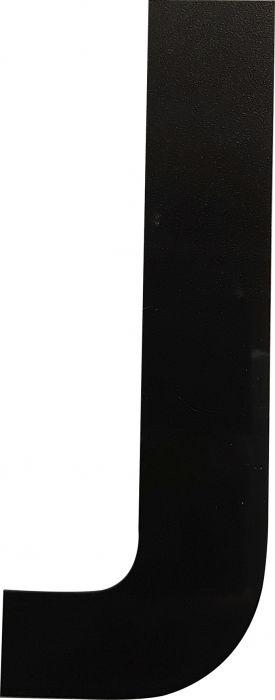 Kirjain Wichelhaus HartPlastic Musta 100 mm J