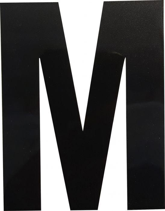Kirjain Wichelhaus HartPlastic Musta 100 mm M