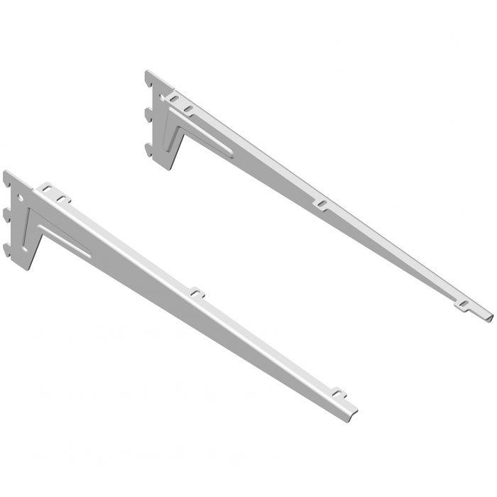 Kulmakannatin Element System Clip Valkoinen 48 cm
