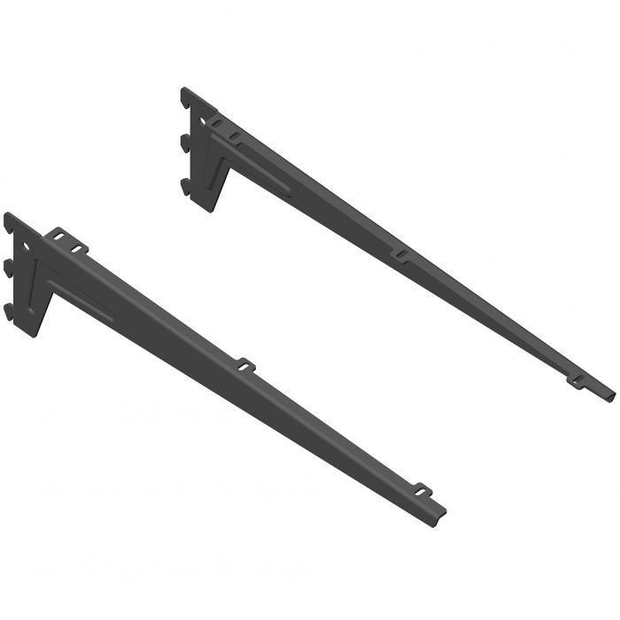 Kulmakannatin Element System Clip Musta 48 cm
