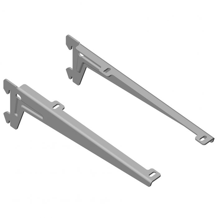 Kulmakannatin Element System Clip Alumiini Harmaa 23 cm