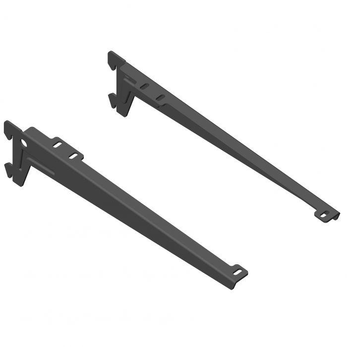 Kulmakannatin Element System Clip Musta 28 cm