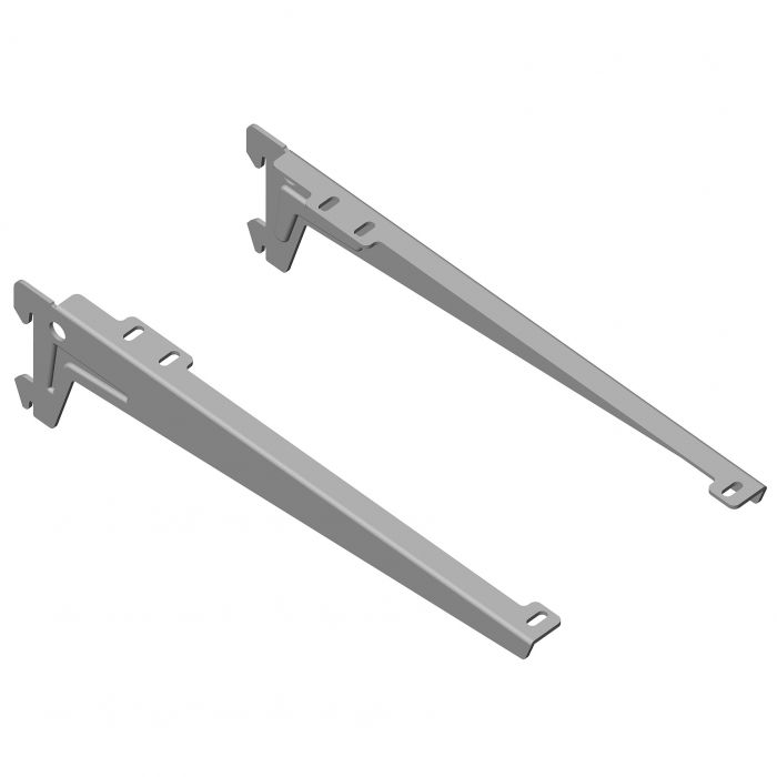 Kulmakannatin Element System Clip Alumiini Harmaa 28 cm