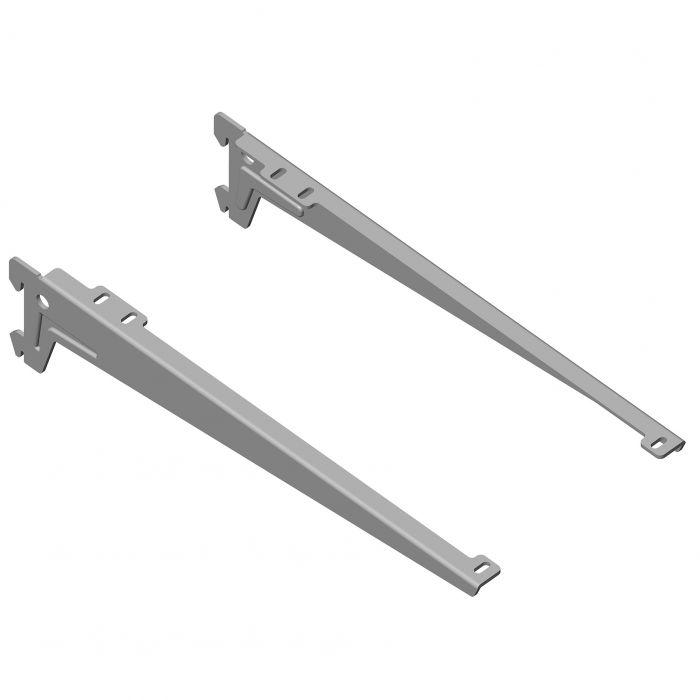 Kulmakannatin Element System Clip Alumiini Harmaa 33 cm