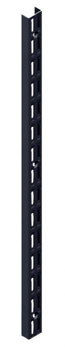 Seinäkisko Element System 2-reikäinen musta 22 cm